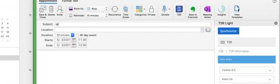 Pressemeddelelse: TimeSheet Reporter understøtter muligvis snart også Outlook til Mac og Web